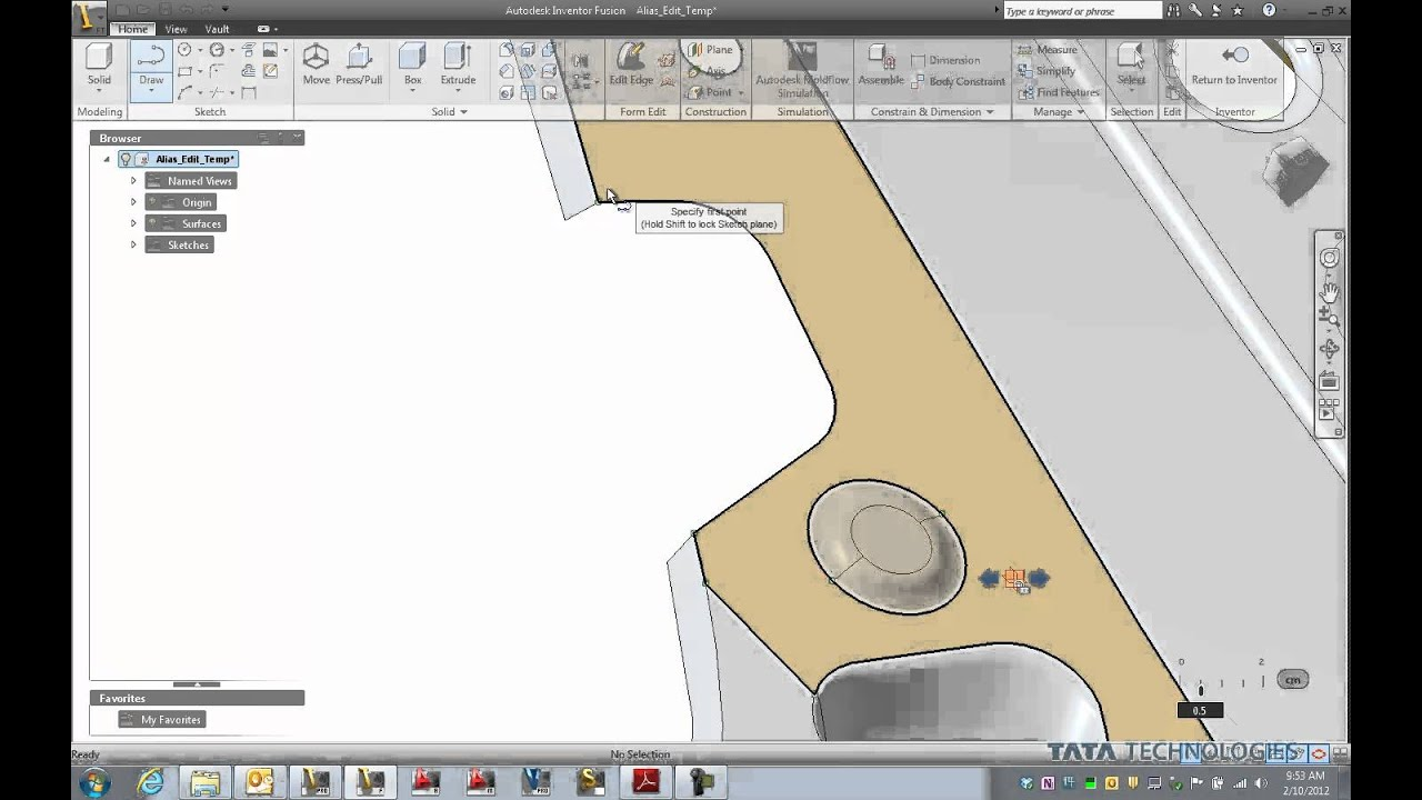 how to delete surface in inventor