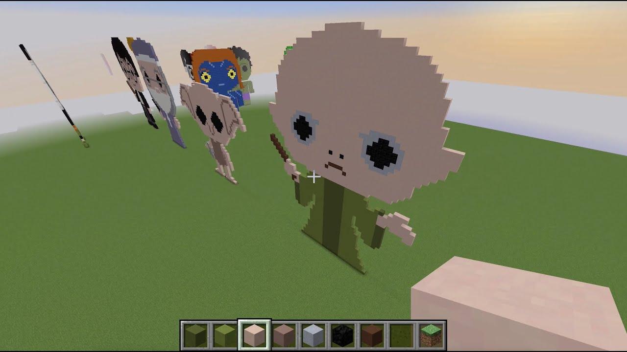 Minecraft Pixel Art   Voldemort   Harry Potter   YouTube