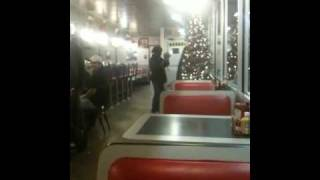 Franciscus Jackson in Waffle House in Ruston, Louisiana With Dancing  Lady  JukeBox JUKING