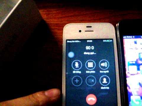 test sóng iphone 4S trong nhà. bị mất sóng
