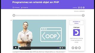 Miniature catégorie - Nouveau Cours PHP Programmation Orienté Objet avec OpenClassRooms