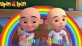 Upin Ipin Bernyanyi Lagu Anak Pelangi Pelangi Alangkah Indahnya
