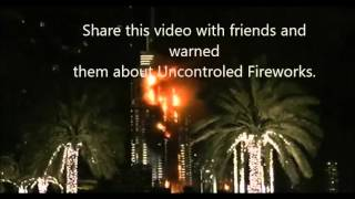 Dubai burning live seen at The Address Downtown,new year 2016|دبي حرق النار ينظر مباشرة