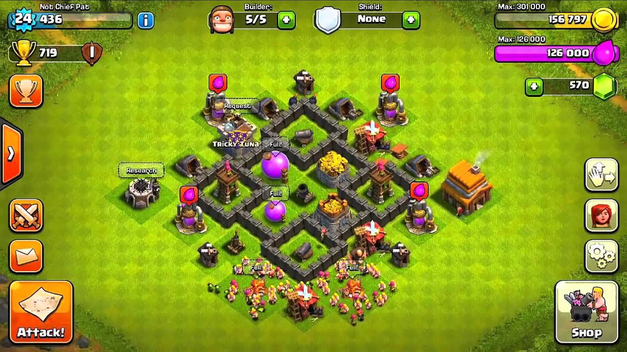 Bentuk Base Coc Th 4 Terkuat 3