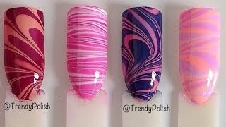 Four Easy Water Marble Nail Art Designs