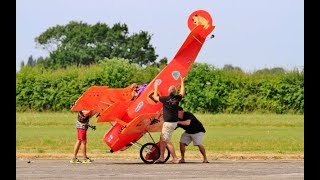 STEVE CARR PUTTING HIS LATEST WARBIRD THROUGH HER PACES AT AN RC MO...
