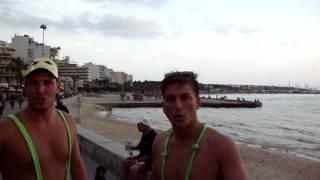 German people are drunk on Mallorca