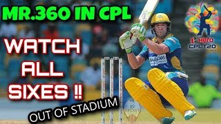 Ab de villiers All Sixes in CPL Full HD   Elite Sports