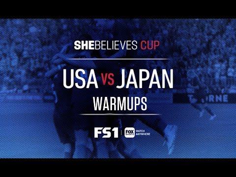 USA vs Japan: Full Pregame Warmups   2019 SheBelieves Cup   FOX SOCCER