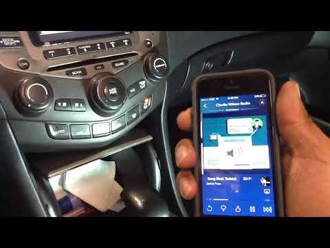 2007 Honda Accord auxiliary to factory radio
