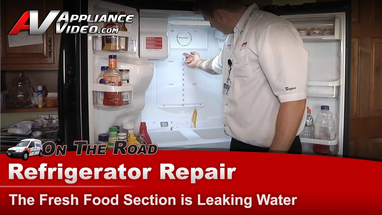 samsung refrigerator diagnostic repair fresh food section is leaking water youtube [ 1920 x 1080 Pixel ]