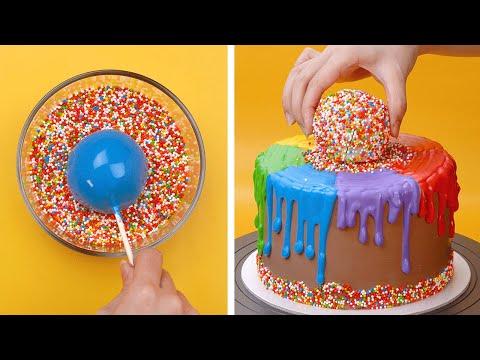 Tasty Rainbow Cake Decorating Ideas | Awesome DIY Homemade Chocolate Cake Recipes | So Yummy Cake