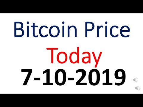 Bitcoin Price Today 7 October 2019 | Bitcoin Price Today In Indian Rupees