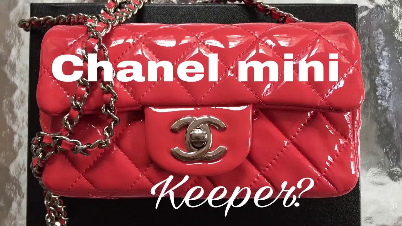 3105eb43e0d0 Chanel patent mini  Should I keep it  - YouTube