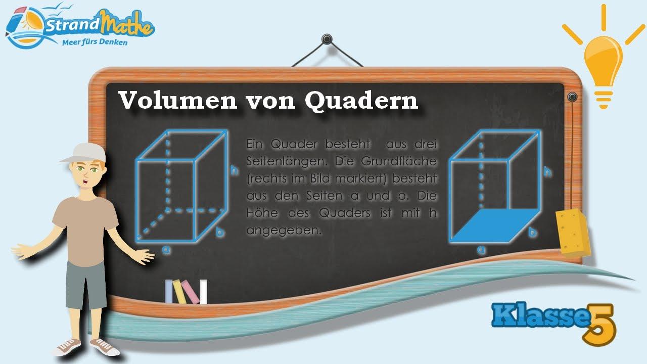 Volumen von Quadern berechnen || Klasse 5 ☆ Wissen - YouTube