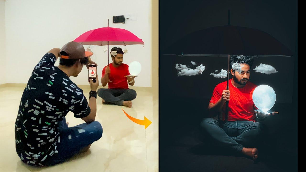 Creative Indoor Photography With Umbrella & Balloons 🔥 #shorts