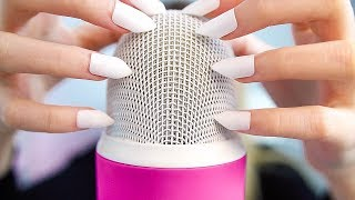 ASMR TAPPING AND SCRATCHING ON MIC WITH LONG NAILS (and more sounds with nails) NO TALKING