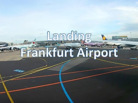 Landing at Frankfurt on Board Emirates