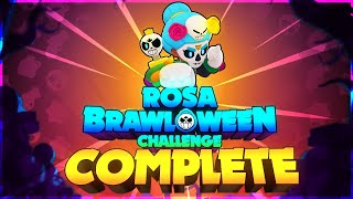 COMPLETING Brawl-O-Ween Challenge and Unlocking New Rosa Skin!