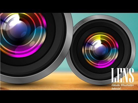 How To Create CAMERA LENS | Adobe Illustrator Tutorial