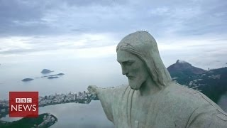 Bird's-eye view of Brazil revealed by hexacopter - BBC News