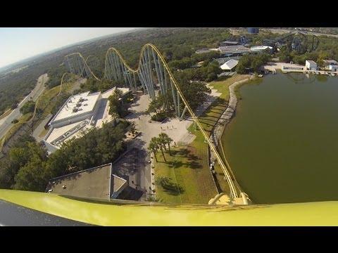 Steel Eel Roller Coaster POV SeaWorld San Antonio Texas