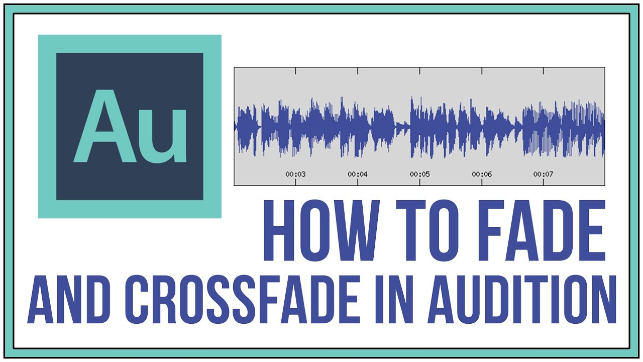 How To Fade and Crossfade In Adobe Audition - Audition Tutorial