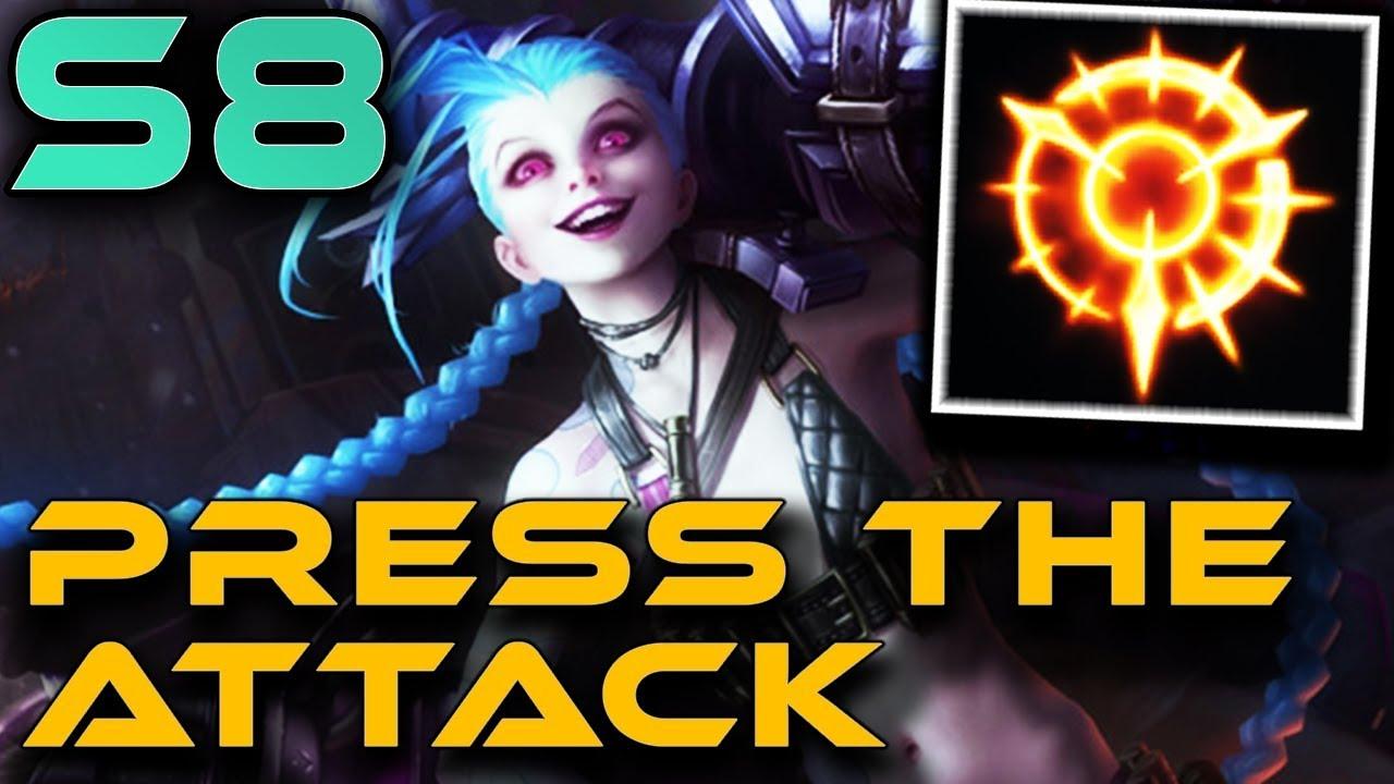 Jinx Press The Attack Season 8 Runes Gameplay Zoose Youtube