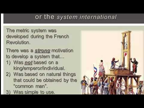 Review Of The Metric System Orgins