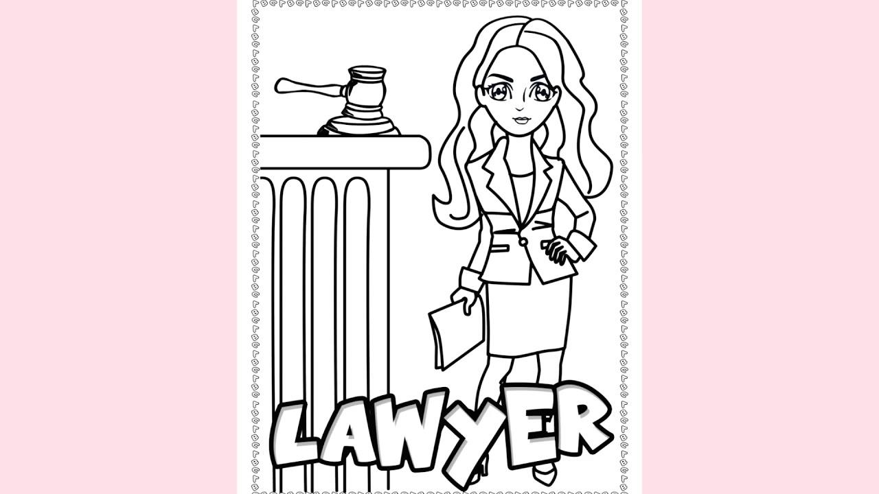 Girls Career Coloring Book 4 8