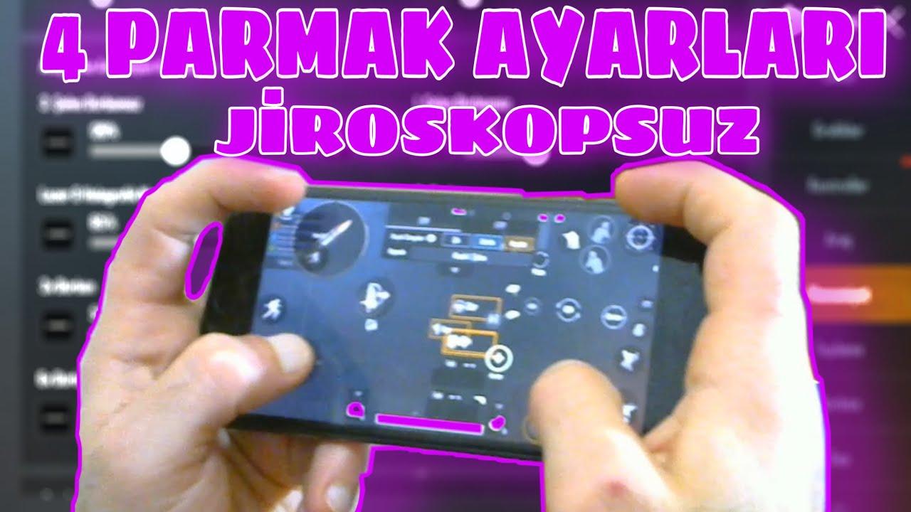 4 PARMAK AYARLARI (Jiroskopsuz) | Pubg Mobile 4 Parmak hassasiyet ayarları jiroskopsuz | Pubg Mobile