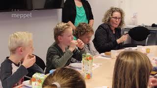 Nationaal schoolontbijt bij de burgemeester