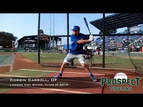 Corbin Carroll, OF, Lakeside High School Class of 2019, Swing Mechanics at 240 FPS