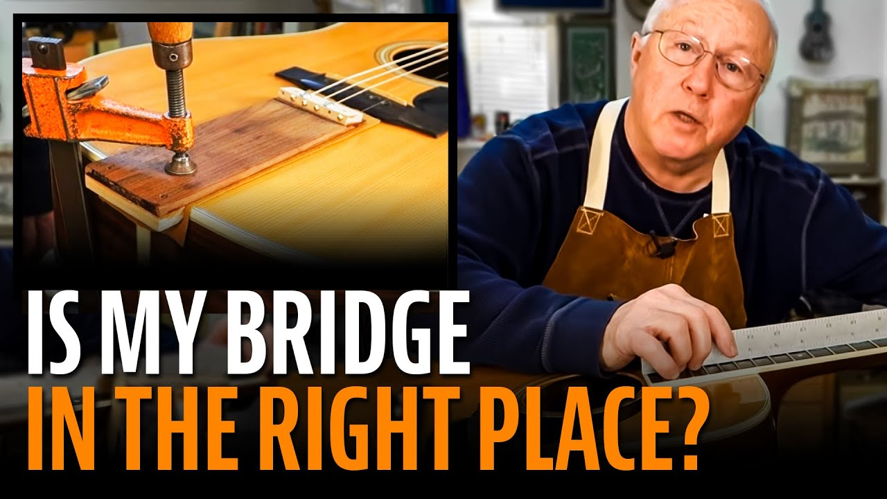 Is This Guitar S Bridge Saddle In The Right Place Youtube