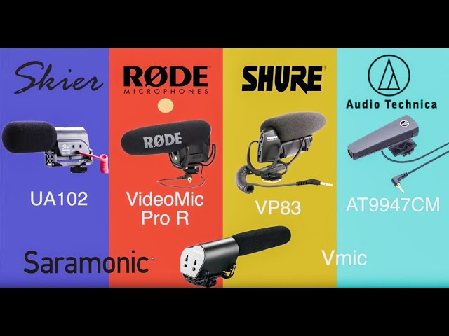 ????????DSLR ?????????????????(Skier UA102/Saramonic Vmic/RODE VideoMic Pro/SHURE VP83/???AT9947CM)