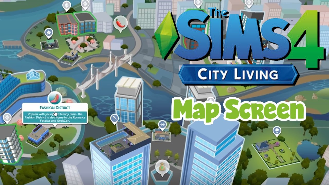 The sims 4 city living map screen early access youtube the sims 4 city living map screen early access gumiabroncs Gallery
