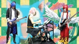 【Cosplay】FAIRY TAIL - Main Theme/メインテーマ【drum/guitar/bass Cover】