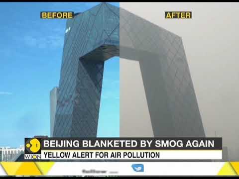 Heavy smog envelops Beijing again