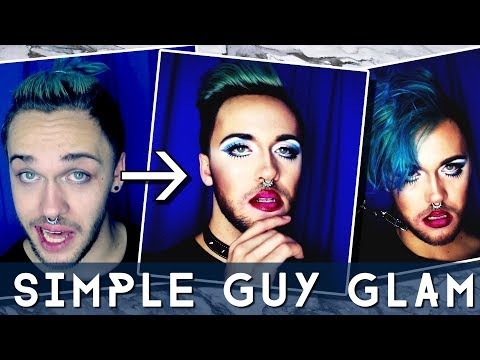 SIMPLE MALE GLAM MAKEUP TUTORIAL | HOW TO GUYS MAKEUP thumbnail