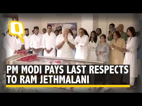 PM Modi Pays Last Respects to Ram Jethmalani | The Quint