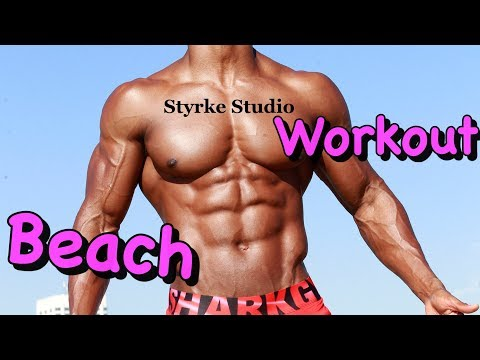 Muscle Model Max Beach Workout Santa Monica Styrke Studio