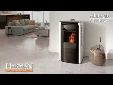 harman allure50 pellet stove video youtube. Black Bedroom Furniture Sets. Home Design Ideas