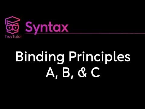 [Syntax] Binding Principles A, B, and C