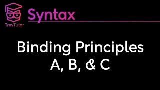 [Syntax] Binding Principles A, B, and C