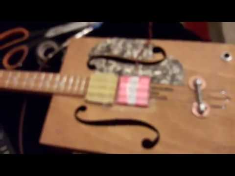 simple homemade flat pup style cbg guitar pickup youtube. Black Bedroom Furniture Sets. Home Design Ideas