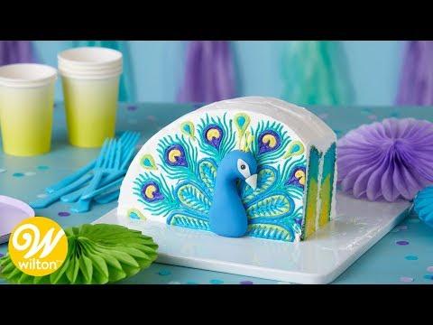 How To Make A Buttercream Peacock Cake | WIlton