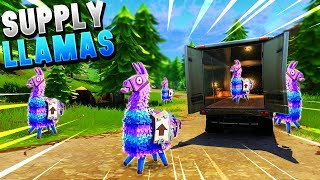 *NEW* SECRET LLAMAS IN FORTNITE - Fortnite Battle Royale Supply Llamas! (NEW ITEM)