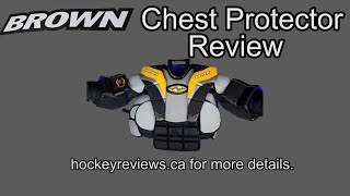 Brown 2400 2200 Russian Spec Hockey Goalie Chest and Arm Protector Review