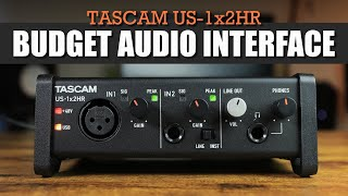 BEST Audio Interface Under $100? | Tascam US-1x2HR Audio Interface (Unboxing & Review)