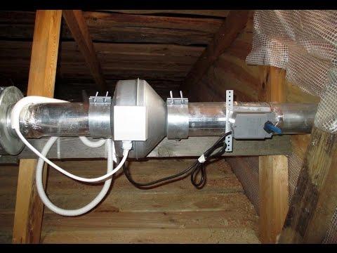 видео: Приточно-вытяжная вентиляция деревянного загородного дома
